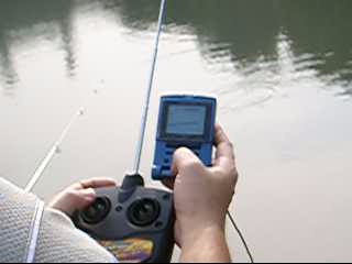 rc boat with fishfinder